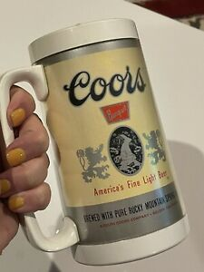 Vintage Coors Beer Pint Glass Thermo Serv Plastic Insulated H