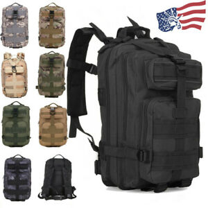 30L Outdoor Military Molle Tactical Backpack Rucksack Camping Hiking Travel Bag $25.99