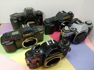 Canon Manual Focus camera body T50 T70 AE 1 ....various models listing....