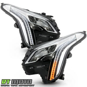 2018 2019 Cadillac XTS LED DRL Switchback Signal Projector Headlights Headlamps $1155.99