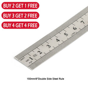 Double Side Metal Ruler Stainless Steel 15cm 6quot; XB $3.99