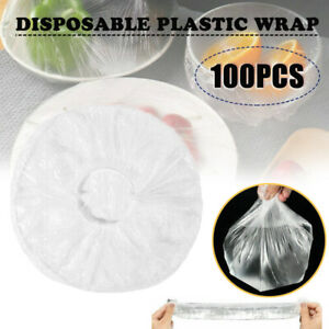100PCS Disposable Cover Plastic Bags Dustproof Fresh Keeping Food Sealed Bowls