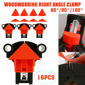 16x 60 120 Degree Right Angle Clip Clamps Corner Holders Woodworking Hand Tool $20.39