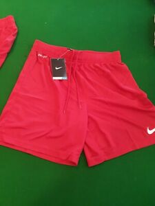 2 Nike Dry Fit Shorts Red S NEW Basketball Loose Fit Sports Training AU $69.00