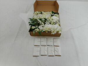 Lings moment Set of 8 Flowers with Drapery Italian RuscusWhite Flowers $48.69