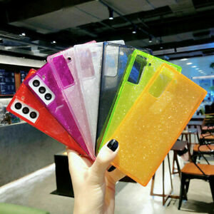 TPU Cushion Glitter Slim Shockproof Square For Apple iPhone Samsung Case Cover $7.49