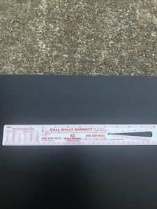 Vintage Channel Home Centers Plastic Ruler Screw Guage Wire Guage 12Inch $14.99