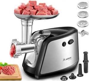 Meat Grinder Electric AAOBOSI 3 IN 1 Sausage Stuffer and Grinder 1200W Max Heav