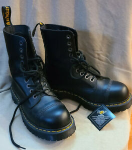 dr martens mens boots size 10 8761 Bxb Leather Mid Calf Boots Fashion steel toe