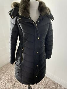 BRAND NEW JOULES CHERINGTON QUILTED BLACK COAT PADDED PARKA SIZE UK 20 GBP 124.99