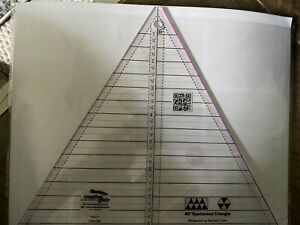"""Creative Grids 60 Degree Triangle Sewing Ruler 8"""" Used Once For A Class $15.00"""