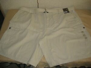 NEW BIG MENS NORTHWEST TERRITORY BELTED CARGO SHORTS SIZE 50 TAN