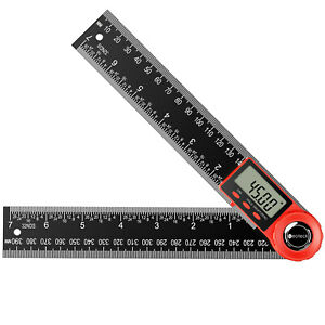 Neoteck Electronic LCD Digital Angle Finder 8quot; Protractor Gauge Ruler w Battery $12.95
