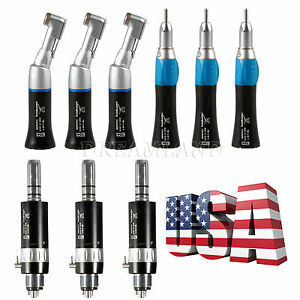 3 sets Dental Slow Speed Handpiece Contra Angle Straight Air Motor HS kit 4H EP4 $139.00