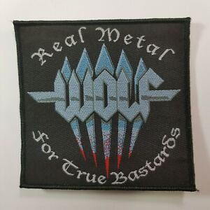 WOLF REAL METAL FOR TRUE BASTARDS WOVEN PATCH $6.99