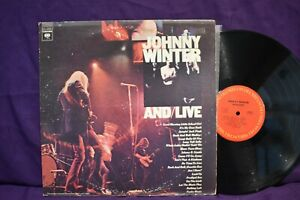 Johnny Winter AND LIVE DBL LP $9.95