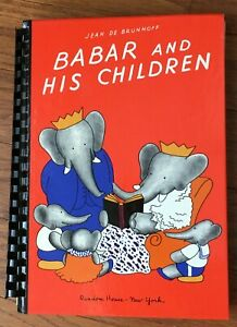 Babar And His Children By Jean De Brunhoff A Braille With Words Childs Book $19.99