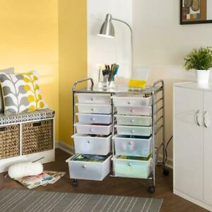 Honey can do 12 Drawer Rolling Storage Craft Cart and Organizer