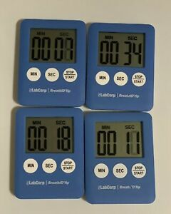 """4 Mini Magnetic Digital Countdown Timer Start Stop On Off 2""""x3"""" Cooking Time $1.43"""