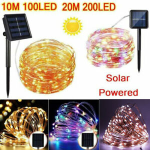 Waterproof LED Solar String Fairy Lights Copper Wire Outdoor Garden Party Decor $6.26