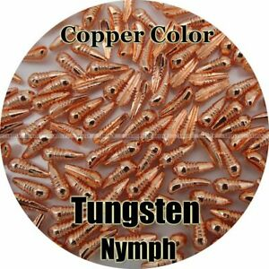 50pcs Fly Tying Nymph Body Tungsten Copper Fishing Artificial Bait Accessories
