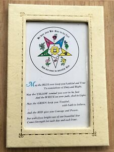 """Vintage ORDER OF THE EASTERN STAR Lithograph 4.625"""" x 6.625"""" credo $15.00"""