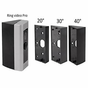 Ring Doorbell Pro Angle Mount Video Wedge Adapter Mounting Plate Bracket Black $26.58