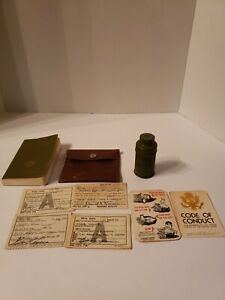 Vintage Military Lot including foot powder an army issued Bible and more $65.00