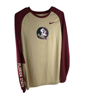 Florida state nike dri fit shirt long sleeve red and gold large $19.99