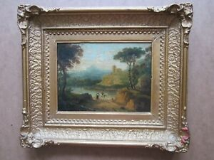 RICHARD WILSON R.A. 1713 1782 attr. Antique Painting MOURNING ITALIANATE GBP 595.00