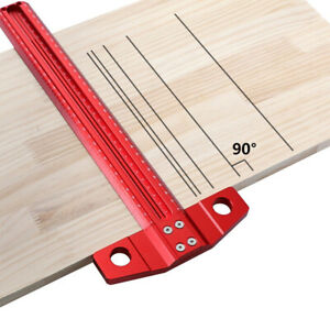 2 in 1 Hole T Ruler Drawing Ruler Hole Ruler Metric Woodworking Scribing Aid $37.78