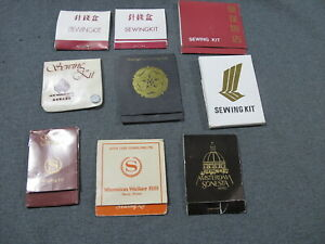 9 Vintage hotel adv sewing kits for collectors unused $3.99
