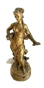 """Beautiful French 19th Century Bronze Sculpture Cybele by Auguste Moreau 13.5"""""""