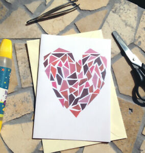 Easy paper Quilled heart card simple wall art $1.01