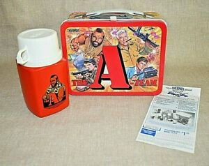 Vintage 1983 Metal The A Team Metal lunchbox amp; Thermos Mr. T. $174.95