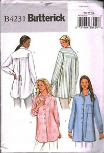 4231 Vintage SEWING Butterick Pattern Misses Loose Fitting Button Up Blouse OOP $5.59