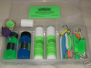 Glow in the dark Fishing Salmon casting complete Kit!