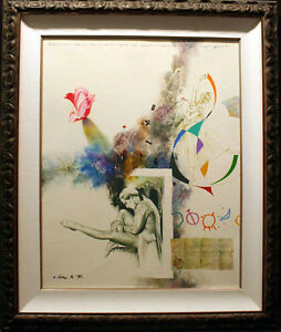 Michael Gorban Untitled Original HAND SIGNED PAINTING Ballet Rose LK!
