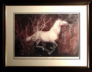 G.H.Rothe Colts SN Horse framed SIGNED ORIGINAL Mezzotint Art Submit Off