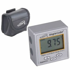 iGaging Angle Cube Digital Magnetic Protractor Gauge Level Table Saw w Case $28.95