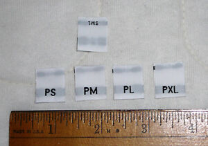 Lot 800 Woven Sewing Clothing Size Labels for Handmade Sewing Petite S M L XL $5.98