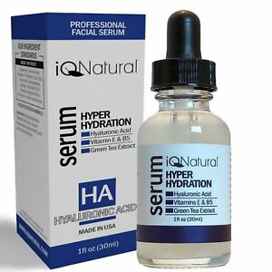100% Pure HYALURONIC ACID Skin Firming Hydrating Wrinkle Reduction Serum