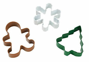 Christmas Holiday 3 pc Metal Cookie Cutter Set from Wilton 1266 $7.69