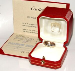 CARTIER Trinity wedding band 1997 Size-52(US-size-5) 10.6g BoxPapers