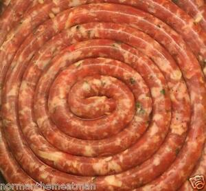 5 LB BOX PORK KING CHEESE AND PARSLEY ITALIAN ROPE SAUSAGE FROZEN