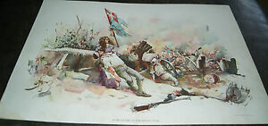 Antique Lithograph A Daughter Of The Revolution by Charles Johnson $60.00