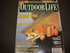 Outdoor Life Magazine April 1997 Trophy Trout Guide Spoons amp; Spinners M3543