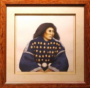 Frank Howell Lakota Woman framed '92 Hand Signed original Color Lithograph OBO