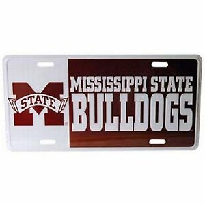 Mississippi State Bulldogs Block Style License Plate $12.47
