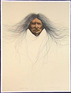 Frank Howell Teton Woman '88 Hand Colored Signed Original Lithograph SUBMITOFFER